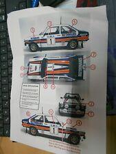 Decalsatz DECAL Decals Rothma ns Rallye für FORD Escort MKII RS 2000 BDA 1:18