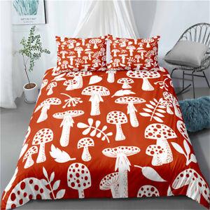 Leaf Duvet Quilt Cover Set Pillowcase Single Double King Super King Mushroom