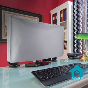 Monitor Dust Cover Computer Desktop Non-Woven Durable Washable Protect Screen 24