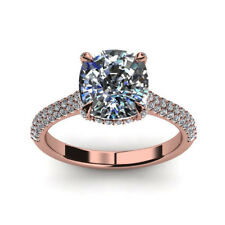 14K Rose Gold Size 6 7 5 1.80 Ct Cushion Cut Diamond Engagement Solitaire Ring