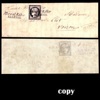 France's 1849 Cover 20c black cancelled with first Mers-el-Kébir-Algérie ,Copy
