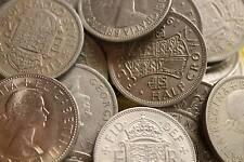 25 PACK OF HALFCROWNS BULK LOT OF OLD BRITISH COINS