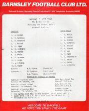 Aston Villa Football Reserve Fixture Programmes (1980s)