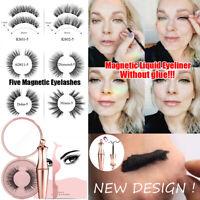 Magnetic liquid Eyeliner with Magnetic False Eyelashes Easy to Wear Lashes Set