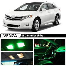 15x Green LED Light Interior License Plate Package For 2009-2015 Toyota Venza
