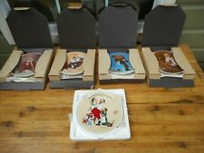 Lot of 5 New Vintage Norman Rockwell Christmas Plates w/ Coa's Knowles