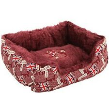 British Print Pet Bed for Dog and Cat NOVELTY UNION JACK PRINT washable