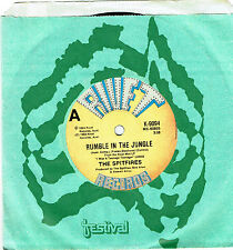 """THE SPITFIRES (OZ ROCKABILLY) - RUMBLE IN THE JUNGLE - 7"""" 45 VINYL RECORD - 1983"""