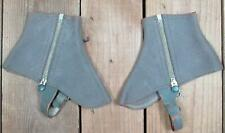 Vintage 1920s Standard & Ideal Wool Dress Spats 2 Pairs Boots Shoes Victorian