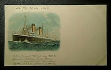 graphic  Victorian  trade post card advertising White Star Line RMS Oceanic