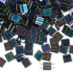 110 Opaque Color Miyuki Two Hole 5mm Flat Square Tila Glass Japanese Seed Beads