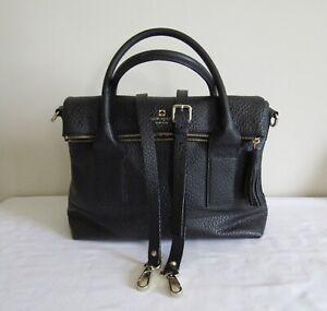 Kate Spade Medium Satchel Handbag 2 Handles Faux Leather 2 PocketsCrossbody
