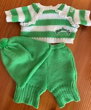 CABBAGE PATCH KIDS - MINT HTF THREE PIECE KNIT OUTFIT WITH BEANIE  -  CPK