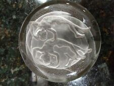 paperweight, glass coaster, pressed design of: twin zodiacal