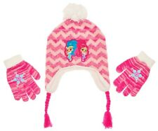 SHIMMER & SHINE Knit Peruvian Winter Hat & Gloves Set w/Pom-Pom & Braids NWT $22