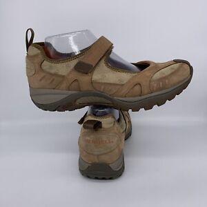 Merrell Siren MJ Otter Mary Jane Hiking Shoe Brown Vibram Women Size 9.5 US
