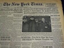 1943 DECEMBER 13 NEW YORK TIMES - RUSSIANS TURN TIDE IN KIEV AREA - NT 1018