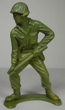 """OLD VINTAGE 4 7/8"""" 1960s TIM MEE TOYS TOY ARMY MILITARY SOLDIER MADE IN THE USA"""