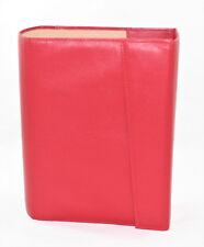 Couverture Livre Bible Véritable Cuir Nappa Rouge Fabriqué en Italie