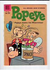 Dell POPEYE #55 Sept Oct 1960 vintage comic VG+ condition