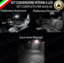 KIT LED INTERNI AUDI A5 (B8) PLAFONIERA ANT+POST+BAGAGLIAIO ULTRALUMINOSI