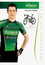 CYCLISME carte cycliste ALEXANDRE PICHOT équipe EUROPCAR 2012
