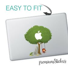 Green Tree With Children Swing Art Design Apple MacBook Vinyl Skin Sticker Decal