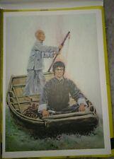 李小龙彩色明信片 Bruce Lee 75th Birthday Pictorial Full Color Post Card #13 the Boat