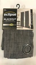 "Brand new Eclipse Blackout Grommet Curtain Panel Rowland Gray 52"" X 84"""