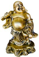 Laughing Buddha Brass Statues for Lucky & Happiness, Laughing Buddha Figurines