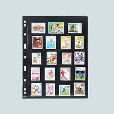 5 Strips PCCB Stamps Stock Pages Album PVC Leaf Holder Collection Holes Organize