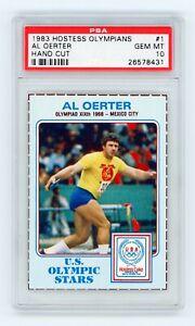 1983 Hostess Olympians Hand Cut #1 Al Oerter - 1968 Mexico City - PSA 10 GEM MT