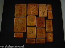 15 x DA Merkenthaler Monogramme, Kupfer Schablonen, Stencils, Patrons broder
