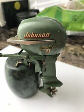 K&O Johnson 25MP Sea Horse Toy Outboard Boat Engine Electric Japan Vintage