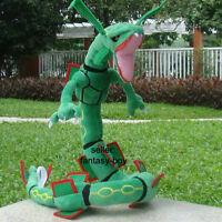 "Rayquaza 32"" Plush Mega Dragon Stuffed Toy Figure Cartoon Soft Doll"