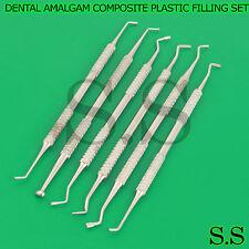 DENTAL AMALGAM COMPOSITE PLASTIC FILLING INSTRUMENTS SET DENTAL BASIC PR-0095