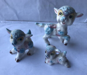 Set Of 3 Sheep Family Ornament