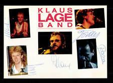 Klaus Lange Band  Autogrammkarte Original Signiert ## BC 95892