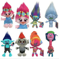 Dreamworks Movie Trolls World Tour POPPY BRANCH BARB Plush Doll Toy Kids Gift