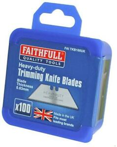 Faithfull Heavy-Duty Trimming Knife Blades Box Of 100