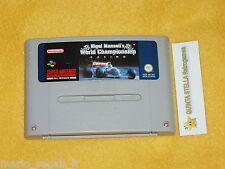 NIGEL MANSELL'S WORLD CHAMPIONSHIP RACING Super Nintendo versione PAL