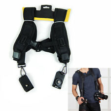 Quick Release Double Dual Shoulder Strap Sling Belt For Camera Canon Nikon DSLR