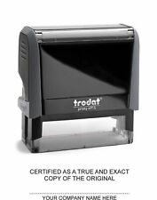 Trodat 4915 customised stamp Certified as a true copy with your company name