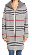 RD Style Stripe Hooded Sweater Coat NWT Oversized Hoodie Medium