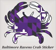 "Baltimore Ravens Crab Sticker 4""x 4"" adhesive digitally printed vinyl sticker."