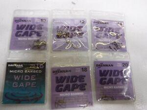 DRENNAN widegape barbed  X3  PACKS chub HOOKS!!!!!