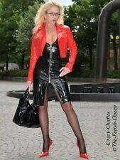 Lackkleid Kleid Schwarz Mini Neckholder Lack Vinyl Maßanfertigung