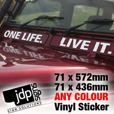 ONE LIFE. LIVE IT. LAND ROVER 110 AIR VENT  STICKER