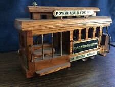 Vintage Wooden San Francisco Trolly Car Music Box-Powell & Hyde Sts.