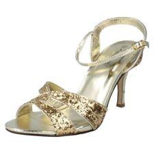 Zapatos de tacón de mujer de color principal oro sintético Talla 38.5
